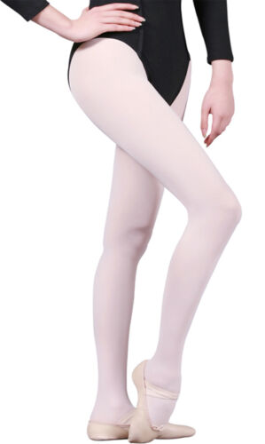 Ballet// Dance// Ice Skating NEW! Childs Mondor 345 White Seamless Footed Tights
