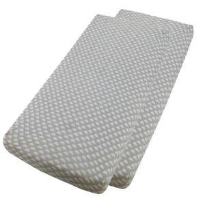 2x Crib Jersey Cradle Fitted Sheet 100/% Cotton 40 x 90cm White