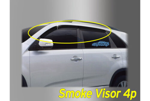 Smoked Black Window Vent Visors Rain Guard Sun 4P K//165 for Hyundai Kona 2018~19