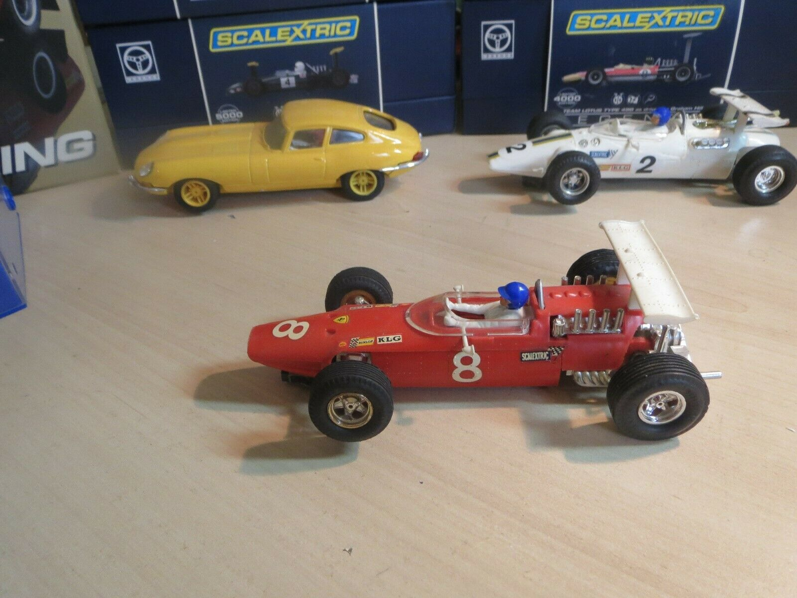 SCALEXTRIC 1960's C9  NO8 FERRARI V8 in RED  POWERSLEDGE SUPERB