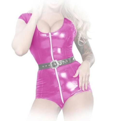Insistline-Pelle Stretta Datex Body a maniche corte a 3 vie zip in quattro colori