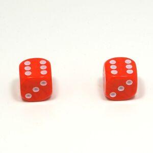 1-Pair-of-Orange-Dice-Dust-Caps-for-BMX-80-039-s-Retro-Valve-Caps