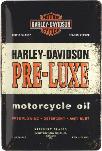 Harley Davidson Pre-Luxe Schild geprägt 20 x 30 cm Reklame Retro Blechschild 280