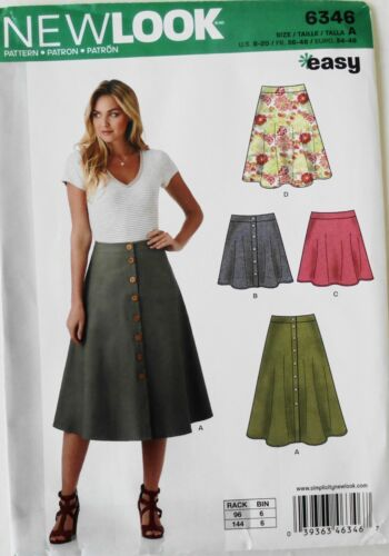 New Look 6346 EASY Misses Skirts Sewing Pattern Sz 8-20