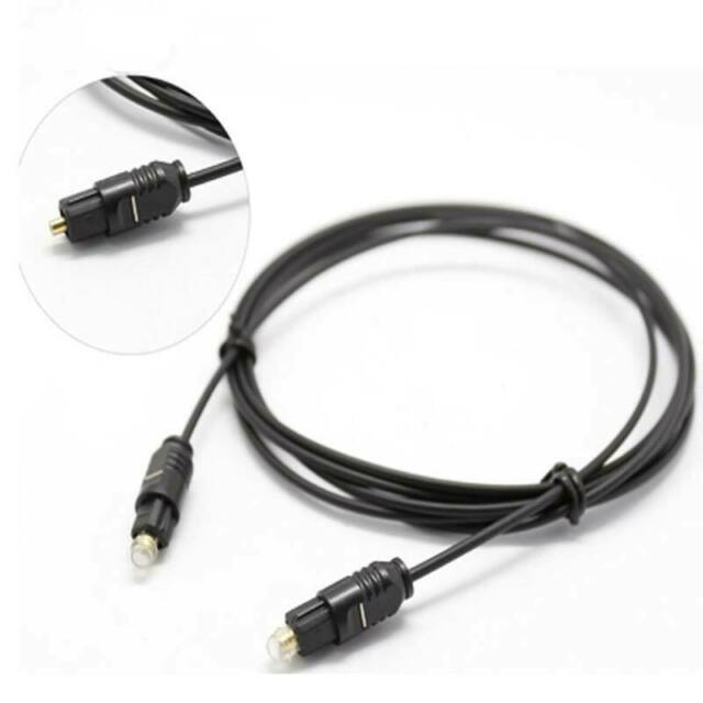 Digital Toslink Optical Fiber Audio Cable Cord Adapter 1 to 2 Splitter(Black