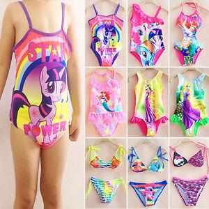 eed613cda5975 Kids Girls Mermaid Monokini Bikini Set One Piece Swimsuit Bathing ...