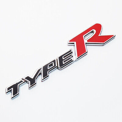 Type R White Red Metal Front Grill Type R Badge Emblem For Honda Civic Type R
