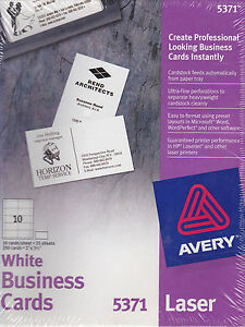 Avery printable microperf business cards laser 2 x 3 12 white image is loading avery printable microperf business cards laser 2 x reheart Images