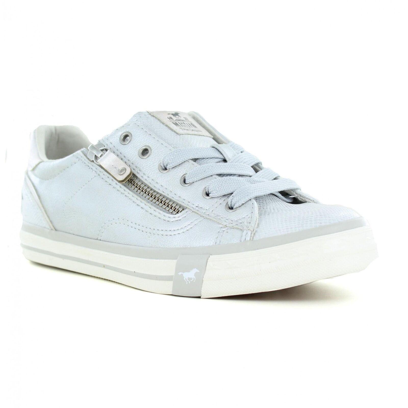 Mustang 1146-311-21 Damenschuhe Fashions Trainers Schuhes - Silver