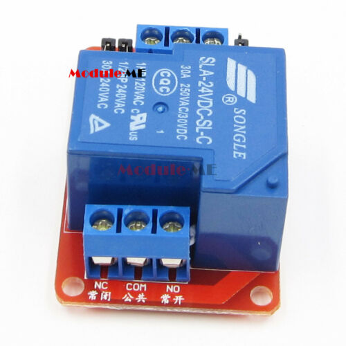 30A 24V 1-Channel Relay Module Board With Optocoupler H//L Level Triger