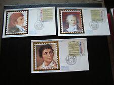 FRANCE - 3 enveloppes 1er jour 26/8/1989 (droits de l homme) (cy78) french
