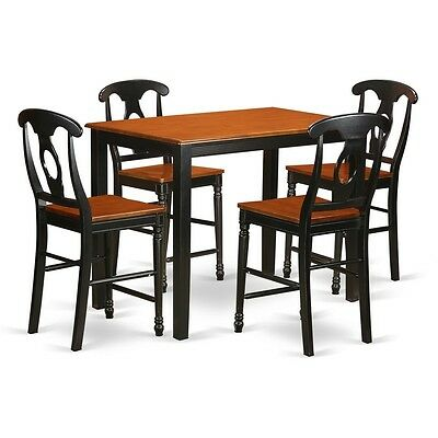 5 Pc Counter Height Table And Chair Set High Top 4 Bar Stools W Backs 682962649116 Ebay