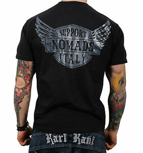 hells angels support 81 t shirt nomads italy black new ebay. Black Bedroom Furniture Sets. Home Design Ideas