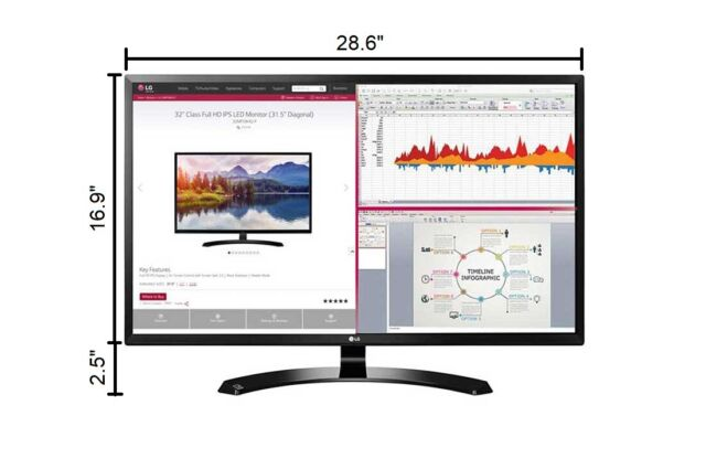 "LG 24/"" 24M47H-P Full 1080p HD LED Monitor 16:9 5ms"