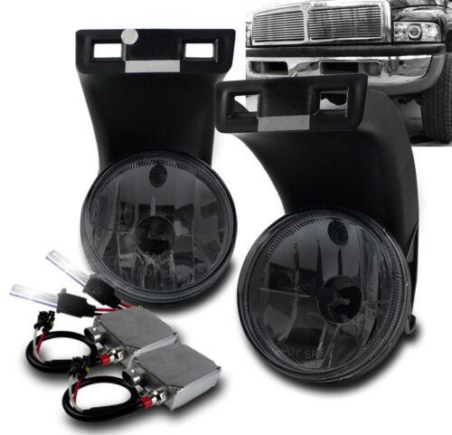 94-01 DODGE RAM 1500 2500 3500 PICKUP BUMPER SMOKE FOG LIGHT LAMP+50W 6000K HID
