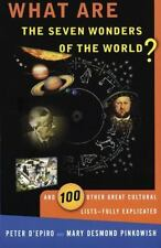 What Are the Seven Wonders of the World? and 100 Other Great Cultural -ExLibrary
