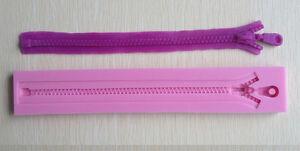 1x-zip-Zipper-silicone-gateau-fondant-Decor-Topper-moule-chocolat-au-four