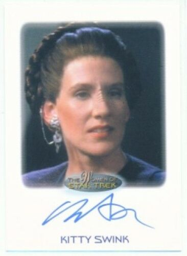 "KITTY SWINK ""ROZAHN AUTOGRAPH CARD"" WOMEN OF STAR TREK"