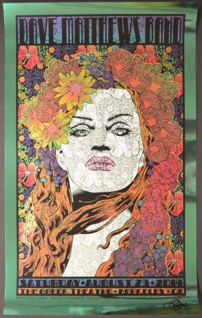 Dave Matthews Band Berkeley Chuck Sperry Green Foil Poster Variant Virginia DMB
