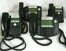 Lot 4 Polycom 2 Soundpoint Ip 335 2 Ip 550 Poe Hd Voip Ip Factory Reset