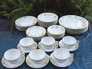 Rare ZYLSTRA Japan (42 Pc) AUTUMN GOLD Handcrafted Porcelain Dinner ...