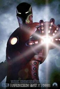 13x20-promo-IRON-MAN-poster-ROBERT-DOWNEY-JR-2008-MOVIE-avengers-MARVEL-original