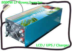 32000w/8000w Lf Split Phase 24vdc/110v,220vac 60hz Powerinverter Lcd/ups/charger Alternative & Solar Energy Home Improvement