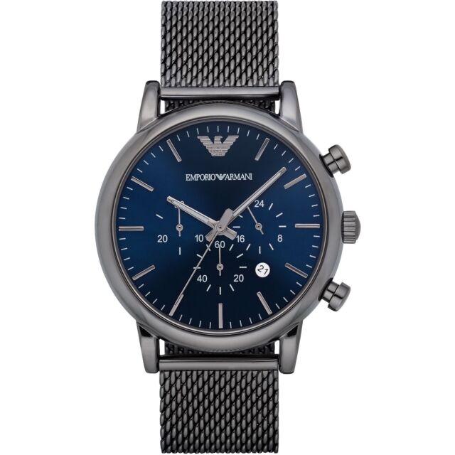 742708925a4f9 Emporio Armani AR1979 Blue Dark Grey Stainless Steel Analog Quartz Men s  Watch