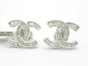 18kt-Solid-White-Gold-Genuine-White-Diamond-1-85ct-Channel-Set-Stud-Earring-Gift