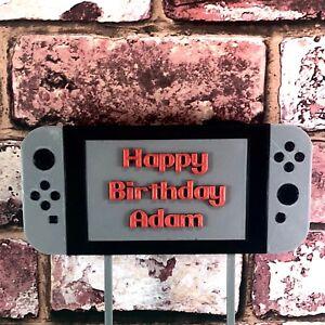 Image Is Loading Gamer Gaming Handheld Video Game Controller Birthday Cake