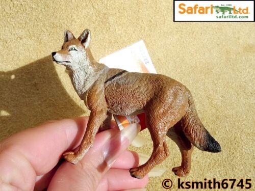 Safari Coyote plastica solida giocattolo Wild Zoo American Dog Animale Predator NUOVO *