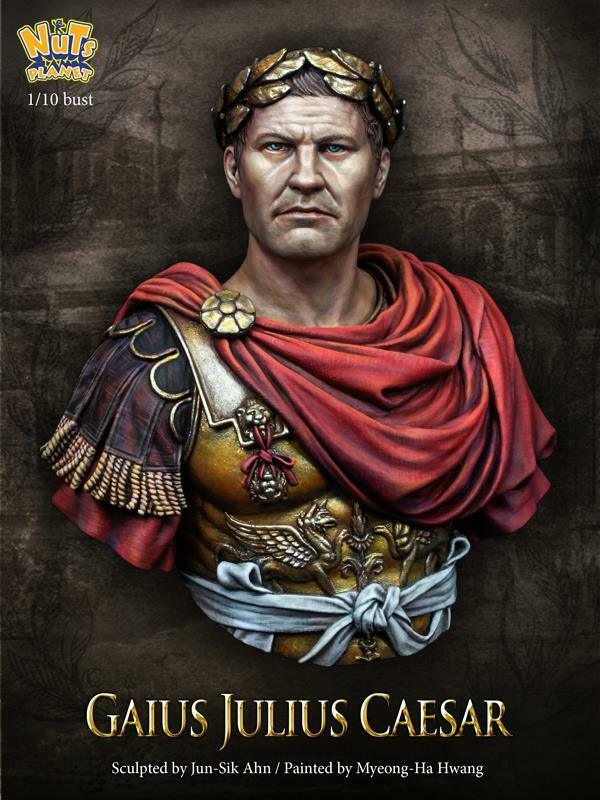 Nutsplanet Julius Caesar Roman Emperor Unpainted bust 1 10th scale kit