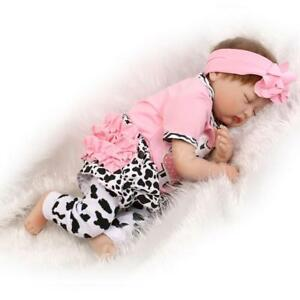 Reborn Toddler Newborn Lifelike Baby Dolls Full Body Silicone Girl Doll+Clothes