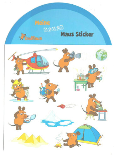 El ratón 12 hermosas Sticker Adhesivo WDR 2-3cm grande-autoadhesivo