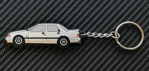 Ford Sierra Sapphire Cosworth Key Ring White