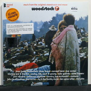 VARIOUS-ARTISTS-039-Woodstock-3-Days-Of-Peace-Music-039-RSD-Ltd-Edition-Vinyl-3LP-NEW