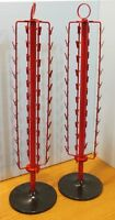 For Sale Two 44 Round Clip Revolving Counter Chip/snack Display Rack (red)