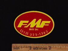 FMF BMX DIV. Vintage Bicycle Motocross STICKER Decal Mongoose Redline DG Webco