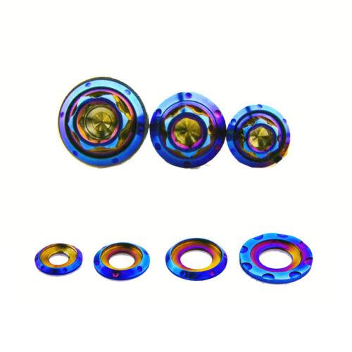 5pcs  M6 M10 Titanium gaskets washers BLUE M8