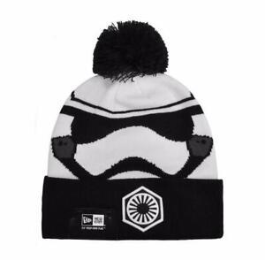 NEW ERA Star Wars Men Storm Trooper Beanie One size Knit White Black Pom Hat