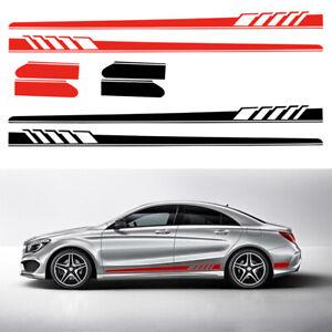2x-Coche-Cuerpo-Falda-lateral-Etiqueta-de-vinilo-Pegatina-Fit-for-Mercedes-Benz