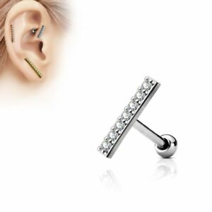 Piercing-oreille-cartilage-longue-barre-argentee