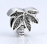 Tropical Island Beach Summer Vacation Coconut Palm Tree Diy Euro Bracelet Charm