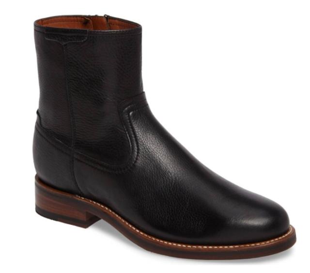8e4a0b9d457 New Men's Ariat 10020163 Santa Fe soft Black calfskin side zipper boot reg  $350