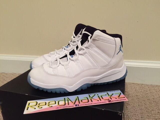 huge discount 37408 58ef2 Nike Air Jordan 11 XI Retro 2014 Legend Blue Columbia Pre School sizes