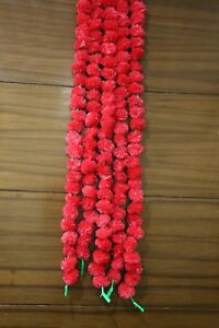 Marigold Flower Set of 5 Pcs Garlands 5 Feet Decoration Free Shipping
