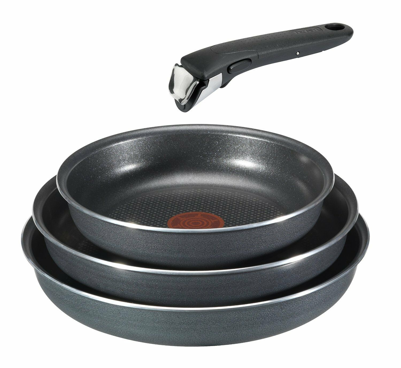 Beste Tefal Ingenio Pfannen Set Durable Aluminium Grau 4x Kuchen Küche NEU