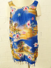Womens Plus Size 3X Blue Hawaiian Dress Cover Up