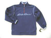 Eddie Bauer Boys Blue Fleece Logo Jacket L 14 16