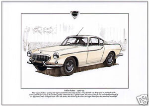 /'The Saint/' Tv-Serie Auto Kunstdruck A4 Größe- Roger Moore Volvo P1800